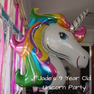 Jade's 9 Year Old Unicorn Party